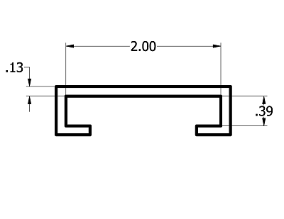 3/8'' x 2'' Bar Cover